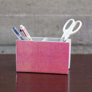 PINK-GREEN CONCRETE BLOCK PLANTER/PENSTAND