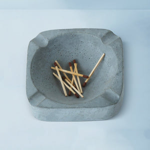 asbak concrete handmade grey ashtray grey