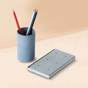 concrete costand round stationary organizer grey