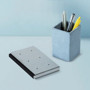 concrete costand square stationary organizer grey