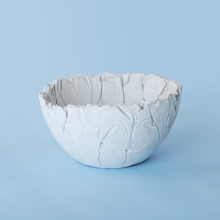 Concrete Crinkled Indome Bowl