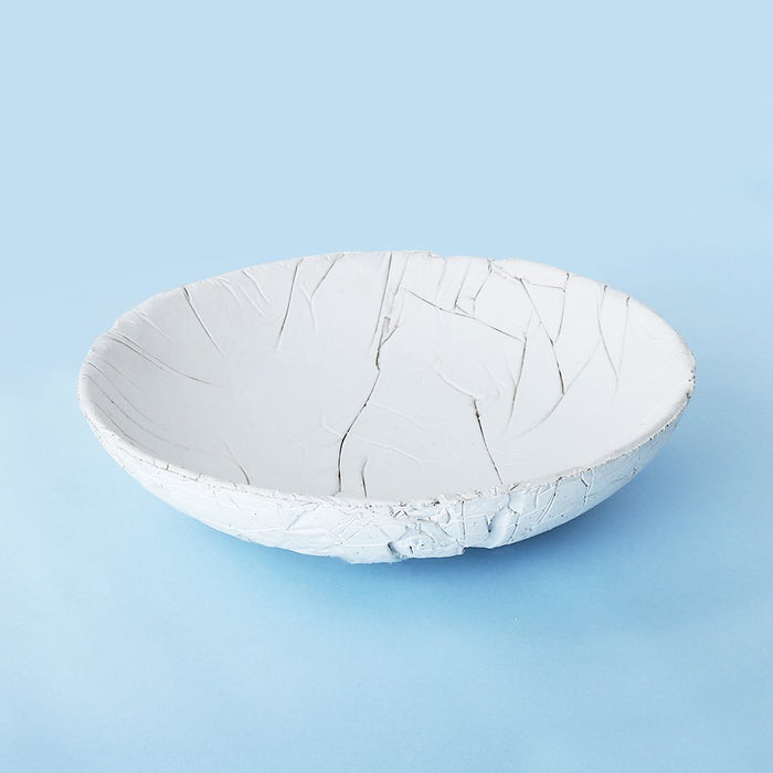 Concrete Crinkled Tasla Bowl