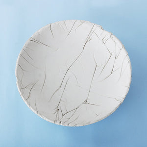 concrete crinkled tasla bowl grey