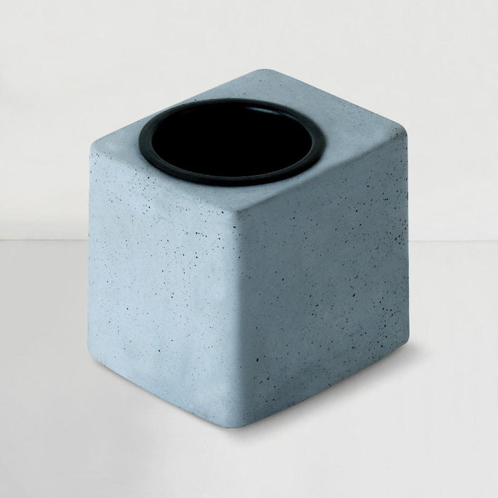 Concrete Greenin Black Metal Tumbler