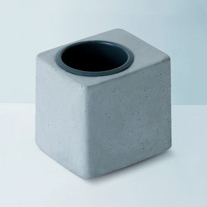 concrete greenin grey metal tumbler grey