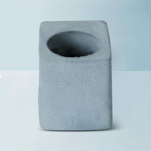 concrete greenin handmade table planter grey