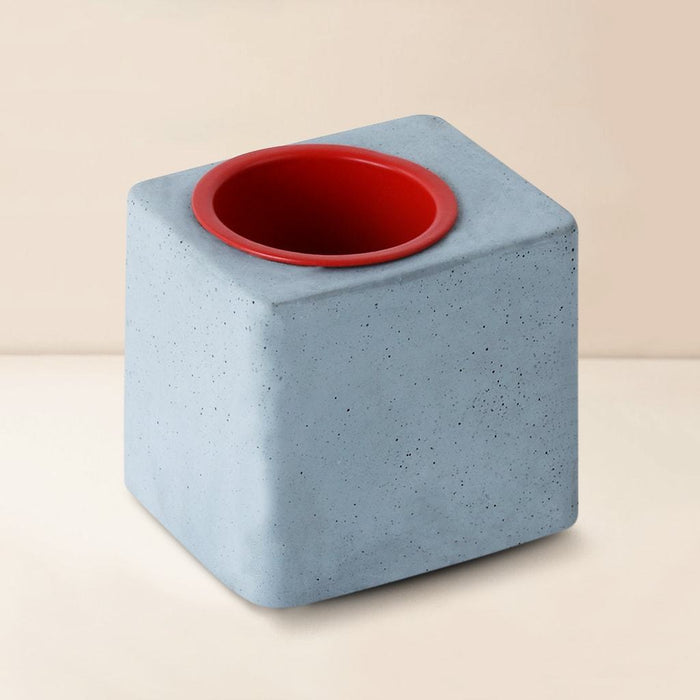 Concrete Greenin Red Metal Tumbler Table Planter