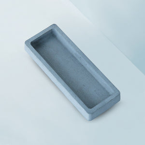 concrete s rectangular tray grey