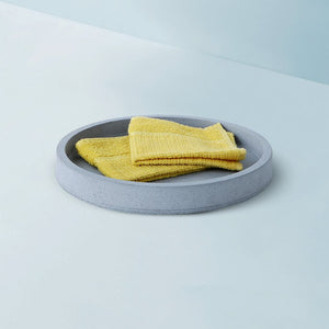 concrete mesa round tray grey