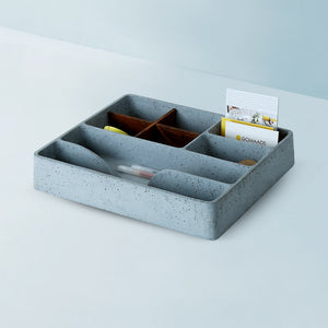 concrete mesa stuco big tray organiser grey