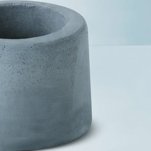 concrete handmade small floor planter grey