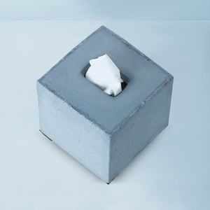 concrete tisco square tissue holder grey