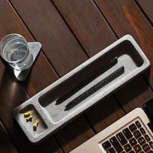 concrete stationary dos handmade tray 1 grey