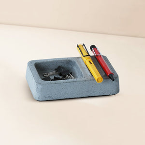 concrete uno stationary organizer grey