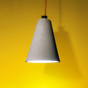 handmade concrete cone shaped licon lamp grey