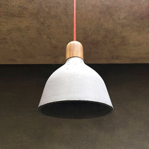 handmade concrete licon ceiling lamp grey