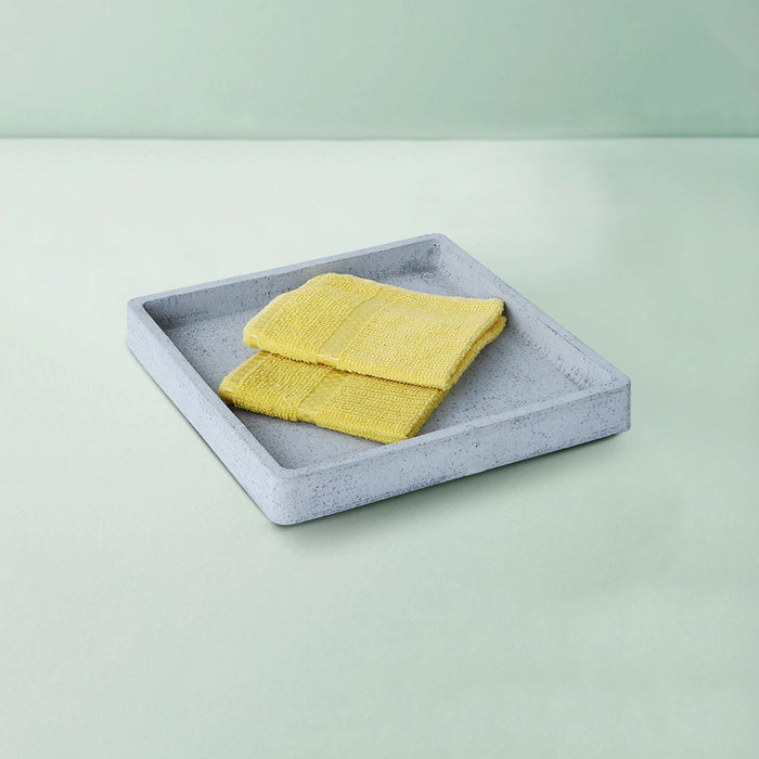 Concrete Large Square Tray