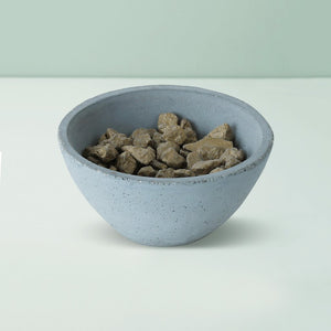 handmade indome small concrete grey bowl grey