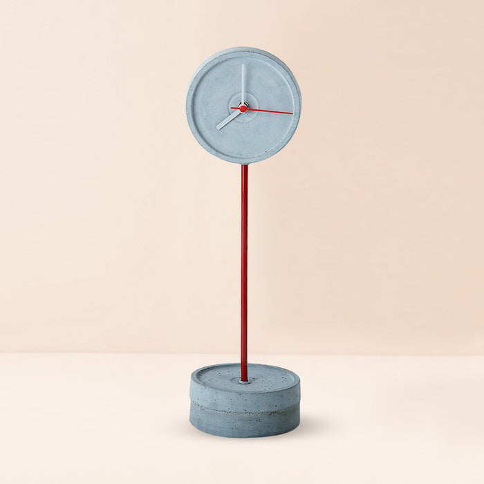 Standing Tall (S) Red Concrete Floor Clock