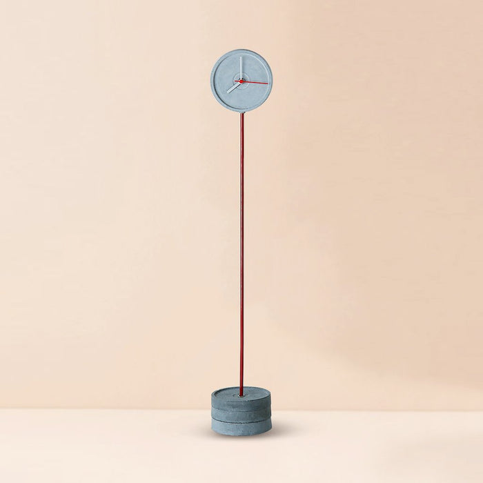 Standing Tall (M) Red Concrete Floor Clock