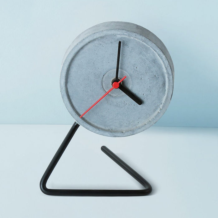 Twistick Black Table Clock