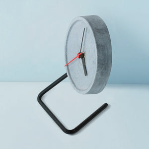 handmade twistick concrete black table clock grey