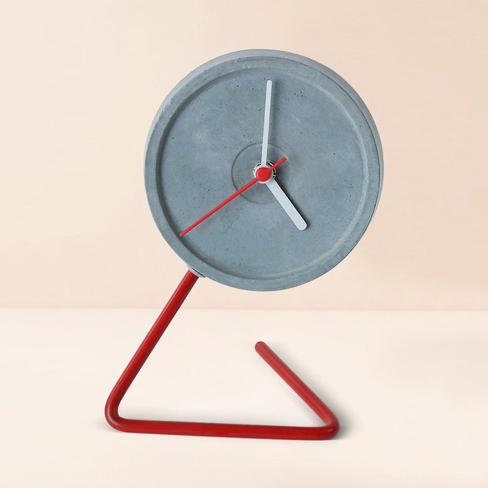 Twistick Red Table Clock