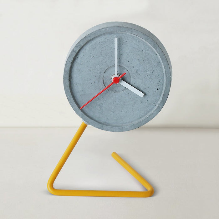 Twistick Yellow Table Clock
