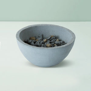 indome grey handmade concrete bowl grey