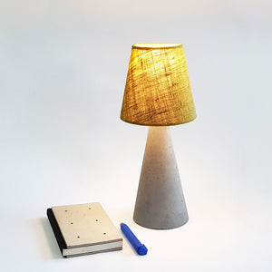 Concrete Table Lamp FOS (cone)