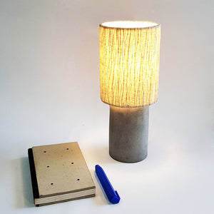 Concrete Table Lamp FOS-round