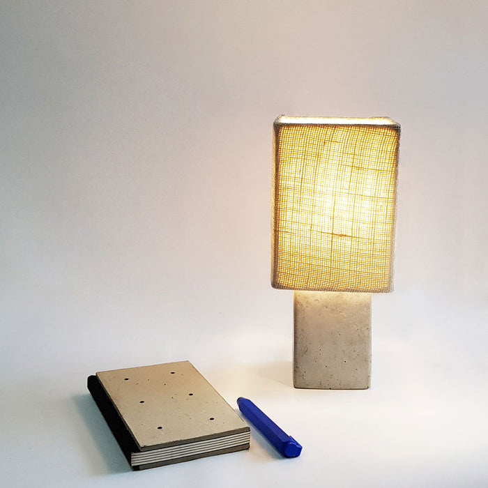 Concrete Table Lamp FOS-square