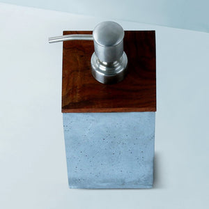mesa square lid soap dispenser grey