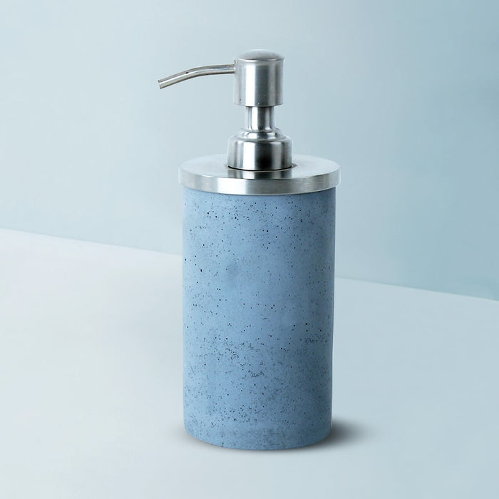 Round Concrete Soap Dispenser