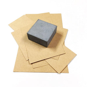 set of 2 vazn concrete handmade paper weight grey