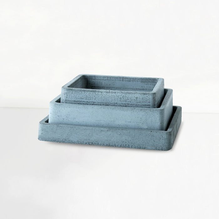 Set of 3 Concrete Square Trays