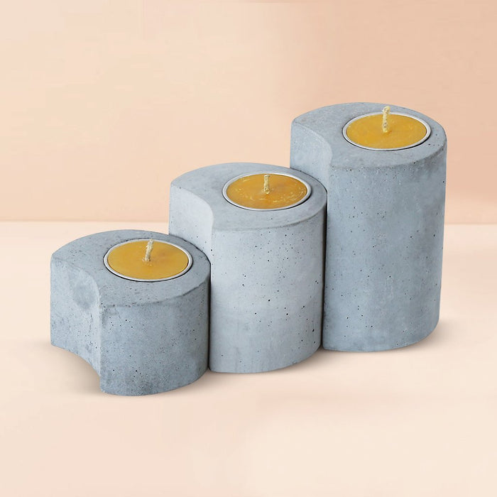 Set of 3 Linelight Candle Holders