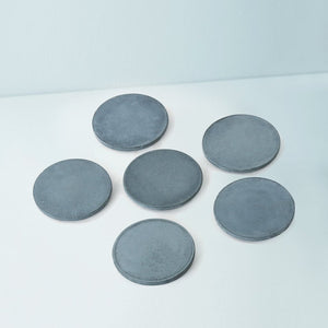 set of 6 cion grey beige concrete coasters grey