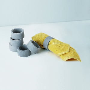 set of 6 oring grey concrete napkin holders grey