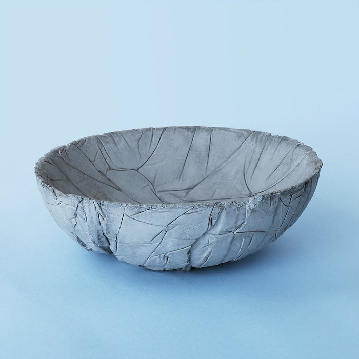 Small Concrete Crinkled Tasla Bowl