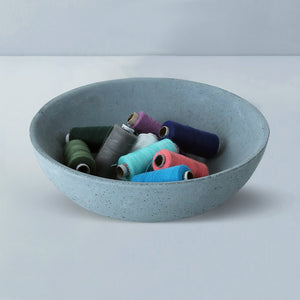 tasla concrete handmade small bowl grey