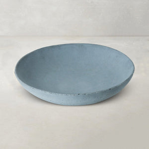 tasla concrete handmade wide bowl grey