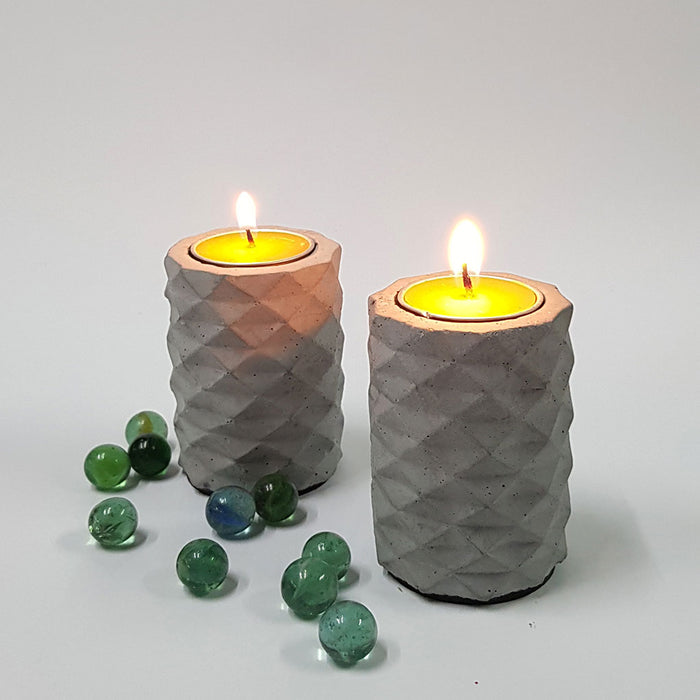 Set of 2 Concrete Origami T-lights