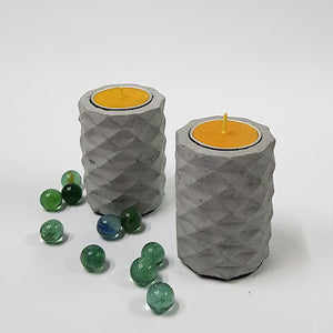 Set of 2 Concrete T-Light 04