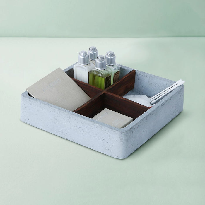Concrete Mesa Square Tray