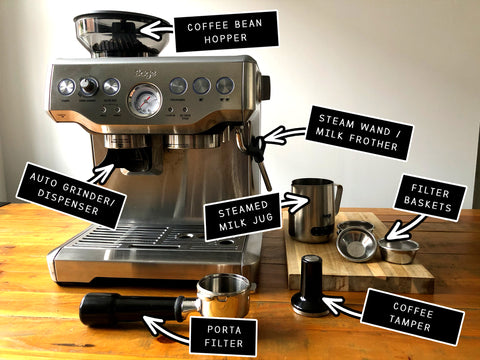 Barista Express labelled