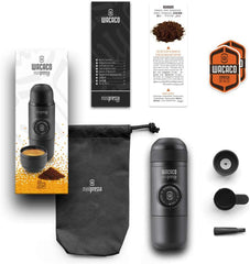 Included with the Mini Travel Espresso Maker