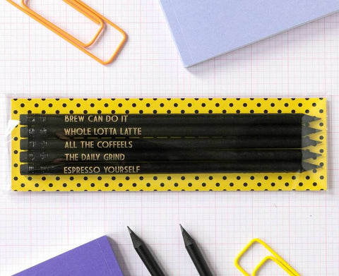 Coffee Lover Pencils - Nice presentation option