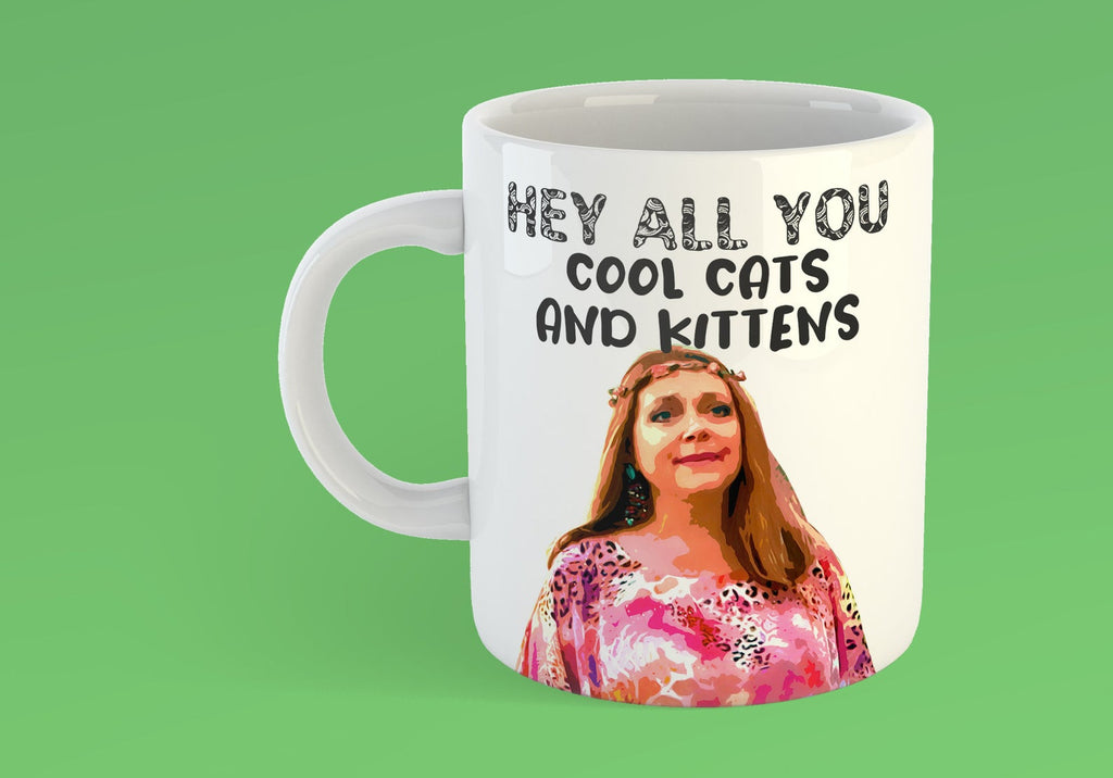 HEY ALL YOU COOL CATS AND KITTENS CAROLE BASKIN MUG