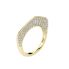 Gold Cobra Ring with Diamond Pave